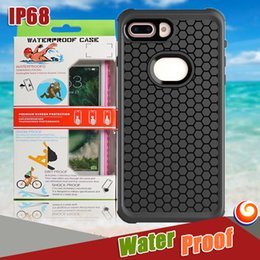 Wholesale Iphone Dust Proof - High Quality IP68 Waterproof TPU Rubber Full Body Cover Underwater Diving Case Shock-proof Dust-proof For iphone x 8 7 6s plus SAMSUNG S8