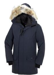 Wholesale Men Jacket Dhl - Brand Men's Langford Parka Down Jacket Parka Winter Warm Thick Down Coats Hooded Fur Collar DownJackets DHL Freeshipping