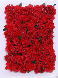 Wholesale Artificial Flower Plates Wholesale - flower wall Silk rose tracery wall encryption floral background artificial flowers creative wedding stage free shipping WT055