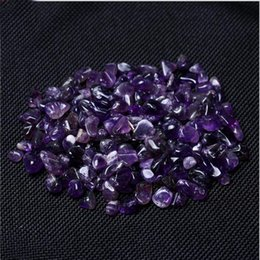 Wholesale Raw Stone Jewelry - Natural Amethyst Crystal Stone Ore Energy Stone Raw Mineral Specimens Jewelry Making 100G=1Bag Office Home decoration