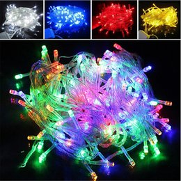 Wholesale Twinkle Light Party Curtains - Christmas LED String Light 100pcs 9 colors 10M 100LED Xmas Led Fairy Lights Christmas Wedding Party Decoration Twinkle light 110V 220V