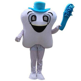 Wholesale Tooth Toothbrush Mascot - Teeth and Toothbrushes Mascot Costumes Cartoon Character Adult Sz 100% Real Picture
