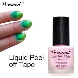 Wholesale Easy Peel - Wholesale-Vrenmol 1pcs Easy Clean White Skin Protected Glue Peel Off Liquid Gel Nails Polish Stamping Latex Tape Palisade Care Coat