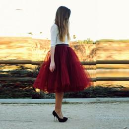 vestidos casuales Rebajas Barato 6 aros faldas cortas para las mujeres puffy una línea de tul faldas del tutú de las mujeres vestidos de fiesta cortos Homecoming vestidos de dama de honor enaguas CPA539