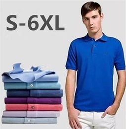 Wholesale Men S Office Shirts - Business Office Polo Shirt 2017 New Brand Men Clothing Solid Mens Polo Shirts Casual Crocodile Embroidery Polo shirt Cotton Breathable Tops