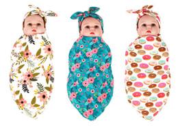 2017 européenne 9 style bébé fleur swaddle wrap couverture enveloppes couvertures pépinière literie éponge bébé enveloppé serviettes avec bandeau Floral ? partir de fabricateur