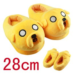 Wholesale Indoor Cartoon Slipper - Hot New Adventure ended Stuffed Plush Adults Slippers Winter Warm Anime Cartoon Novelty Scuffs Shoes 28 cm (size 36-42)