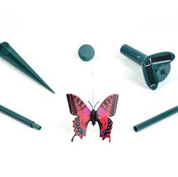 ornamento giardino solare Sconti Simulazione Farfalla Giardino Ornamento Casa Patio Decor Rifornimenti per feste Outdoor Solar Telecomando Craft Novità Giocattolo Regalo creativo 8cg KK