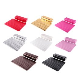 Wholesale pillow arms - Soft Column Cushion Nail Pillow Salon Hand Holder Rectangle Leather Pad Nail Arm Rest Manicure Nail Art Accessories Tool 0603071