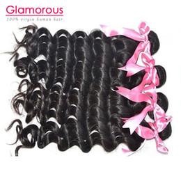 "Wholesale Eurasian Virgin - Glamorous Hair Best quality 100% virgin Peruvian Mongolian Malaysian Brazilian Eurasian hair 8""-34"" Natural wave 4 bundles human hair weave"