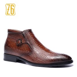 Wholesale Ankle Boots Comfortable - Wholesale-39-48 brand men boots Z6 Top quality handsome comfortable Retro leather martin boots #R5286-3
