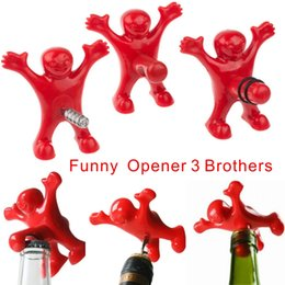 Wholesale Plugs Steel - Funny Character Modeling Bottle Opener, Beer Wine Opener, Vacuum Wine Stopper Plug 3 Styles, Bars, Family Fun Open Bottle Tools.