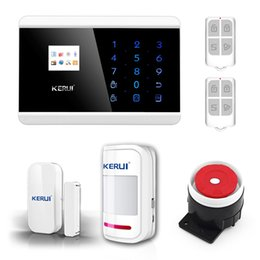 Wholesale Lcd Keypad - LS111- KERUI English France Spanish Russian Wireless Touch Keypad LCD Display GSM PSTN Home Secure Voice IOS Android APP Alarm On Sale