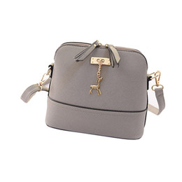 Wholesale Zipper Ornament - Wholesale-New Women Messenger Bags Vintage Small Shell Leather Handbag Casual Bag Hardware deer ornaments shell package high quality 2016