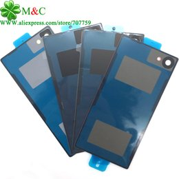 Wholesale Battery For Xperia Mini - Mobile Phone Accessories Parts Mobile Phone Bags Cases 10pcs New 5 mini Battery Glass Cover For Sony Xperia Z5 Compact Z5 mini