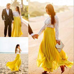 Wholesale Long Skirts Styles For Women - 2017 Stylish Chiffon Long Skirts New Arrival Custom Made Floor Length Skirt For Pretty Women Fashion Casual Street Style Chiffon Skirts