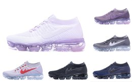 Wholesale Woven Casual Shoes - VaporMaxes 2018 Running Shoes Weaving racer Ourdoor Athletic Sporting Walking Sneakers for Women Men Fashion pink Casual maxes Size 36-45