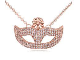 Wholesale Black Mask Necklace - 2017 Hot Selling Fashion Jewelry Charm Lady Crystal Mask Pendant Necklace
