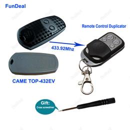 Wholesale Door Key Code - Wholesale- Copy CAME TOP432EV 433.92mhz Remote Control Duplicator Universal Garage Door Gate Key Fob 4 CH Remote Cloning 433mhz Fixed Code