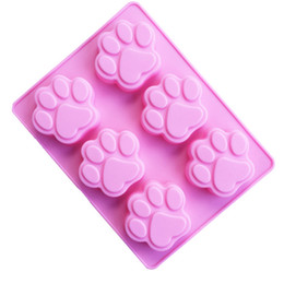 Wholesale Chocolate Candy Wholesale Prices - Lowest Price Cat Paw Print Bakeware Silicone Mould Chocolate Cookie Candy Soap Resin Wax Mold Cake Decorating Tools