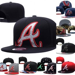Wholesale Sports Teams Snapbacks - Wholesales Atlanta Braves Baseball Cap Embroidered Team logo Fitted Cap Sport Fit Hats Colorfull Free Shipping