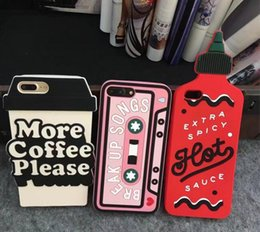 Wholesale cute korean iphone cases - Cute 3D Korean Soft Silicon case Cover For IPhone 6 6S Plus 4.7 5.5inch 7 8 PLUS i7 i8