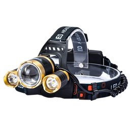 Wholesale Used Head Lights - Hotest Led Headlight 8000Lm Headlamp High Brightness Flashlight Head Torch Linterna XML T6 Fishing Light Use Rechargeable 2*18650 Battery