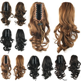 Wholesale Synthetic Hair Extensions Wavy - Wholesale-36cm, 100g, wavy Ponytails with clip, Synthetic hair ponytail, pony tail Hair Extensions