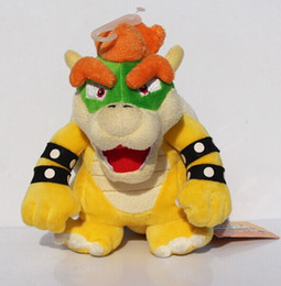 """Wholesale Mario Plush For Free - 7""""18cm Free Shipping Super Mario Koopa Bowser Plush Toys With Tag Birthday Gift For Children"""