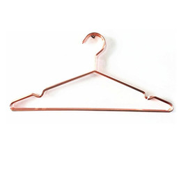 Wholesale Wire Skirt - Multipurpose Dry Cleaning Brass Elegant Rose Gold Clothes Hanger Wire Copper Coat Hanger Antiskid Organizer ZA4690