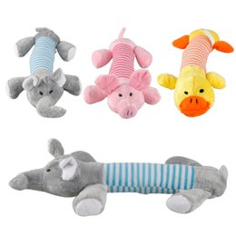 Wholesale Tooth Plush - Dog Toys Pet Puppy Chew toys Squeaker Squeaky Plush Sound Duck Pig & Elephant Toys 3 Designs Casual fashion Pet toy Dog teeth