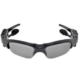 Occhiali da sole a mani libere online-Occhiali da sole Bluetooth con auricolari wireless Auricolari Telefono vivavoce Chiama cuffie blu Mini occhiali da sole Camcorder SM02 DHL gratuito