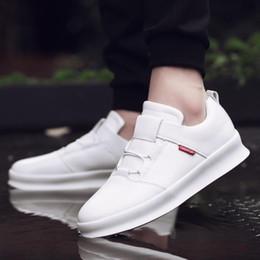 Wholesale Men White British Shoe - Classic 2017 Quality Men Shoes Leather Fashion British Style Men's Loafers casual Autumn Lace-Up Flat Patchwork Casual Shoes Male 21iX