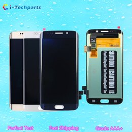 Wholesale Galaxy Screen Assembly - Free Shipping New Original LCD Display Screen and Digitizer Touch Screen Assembly for Samsung Galaxy S6 Edge G925 G925F G925I G925P A