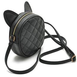 Wholesale Cat Ear Fashion - Wholesale-Fashion Cat Ear Women Round Small Crossbody Bags Mini Shoulder Bags Handbag Women Messenger Bag Bolsa Feminina Purses Satchels