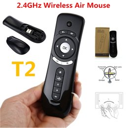 Wholesale Hand Motion Mouse - T2 PK C120 Rii i8 MX3 H9 Gyroscope Mini Fly Air Mouse 2.4G Wireless Keyboard Android Remote Control 3D Sense Motion Stick For Smart TV Box