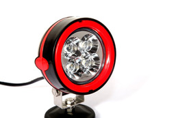 Wholesale Trailer For Atv - 4*4 led work light white Round 12V Cree 12W LED Work Light For Truck Atv Trailer SUV red outlet