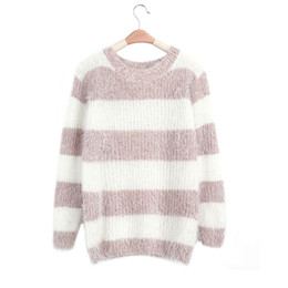 Wholesale Trendy Winter Sweaters - Wholesale- Winter Pullover Trendy Sweater Women Mohair Jersey Christmas Clothing For Female Sweet Pull Femme Knitting Wool Knitted Top
