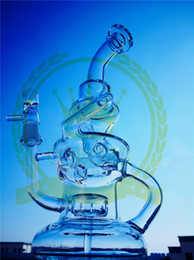 Wholesale Cheap Glass Water Bottles - Coronaglass Drink Vapor Bottle Cup Bong Color Cheap 8 Inches Bubblers Double Recycler Glass Oil Rig Good Function Glass Water Pipe