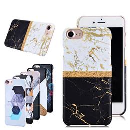 Wholesale Iphone Back Design - Matte hard PC marble case for iPhone 7 7Plus 7S 6 6S plus fashion design back case cover