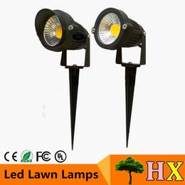 Wholesale Waterproof Lawn Ground Lights - 5W   7W COB LED Lawn Lamp Light DC12V AC85-265V 5W Outdoor Garden Ground Lawn Waterproof Spot IP68 White Warm White Cool Light