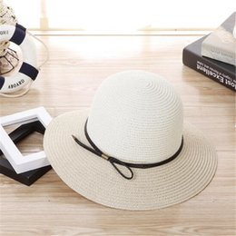 Wholesale Wholesales Accessories For Ladies - Women Straw Hats Summer Beach Hat for Lady Fashion Accessories Bowknot Wide Brim Sun Hat Bucket Hats