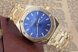Wholesale Offshore Strap - Men's Luxury Brand Automatic Self Wind Mechanical Rose Yellow Gold Stainless Steel Strap Classic 44mm Offshore Black Blue White Dial Watch