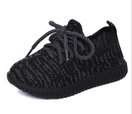 Wholesale Li Ning Sneakers - 2017 Cheap Baby Kids Kanye West 350 Boost Children Athletic Shoes Boys Running Shoes Girls Casual Shoes Baby Training Sneakers Size 21-35