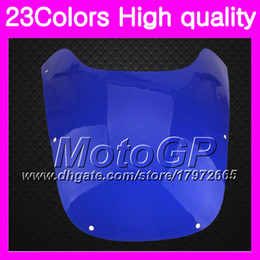 Wholesale Yamaha Fzr - 23Colors Windscreen For YAMAHA FZR400 89 90 FZR400R FZR400 R FZR 400R FZR 400 R 1989 1990 Chrome Black GPear Smoke Windshield