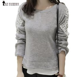Wholesale Design Sweater Skirt - Wholesale-women pullover Sweater Autumn Embroidery Lace Skirt Wool Blends Sweater Female short slim design Cashmere Tops,Tricot 01553