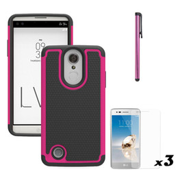 Wholesale Waterproof Phones For Sale - 2017 Hot sale 3 In 1 Football Pattern Phone Case Robot Waterproof PC+Silicone+TPU back Cover ShellFor LG LV3 MS210 Aristo