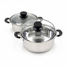 Wholesale Soup Sets - Quality stainless steel soup pot non stick cookware set pans pots saucepan cooking casserole non magnetic pot brew kettle