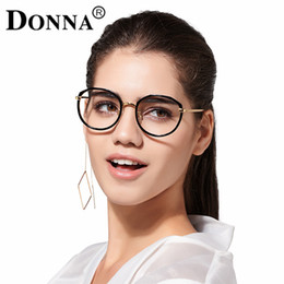 2020 telaio ottico per le ragazze All'ingrosso- Donna Donna Fashion Occhiali da lettura Optical Girl Over tudent Size Occhiali tondi Grandi montature Occhiali Donna New Frame DN06 sconti telaio ottico per le ragazze