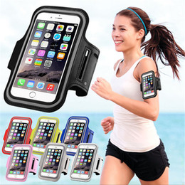 Wholesale Band Iphone Covers - Waterproof PU Sports Running Arm Band Phone Case Holder Pouch For iPhone X 8 7 6 6S Plus SE Workout Gym Cover Bag